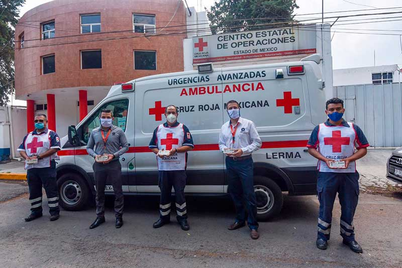 Recibe Cruz Roja del Estado de México donación de combustible de OXXO Gas