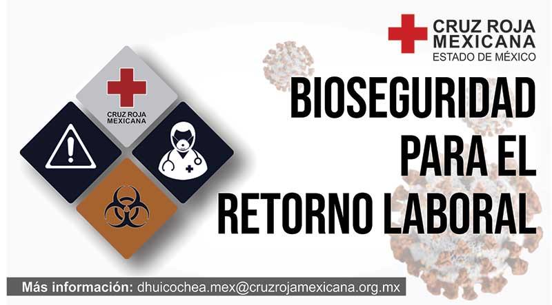 La Cruz Roja ofrece curso y asesorías de bioseguridad para el retorno laboral