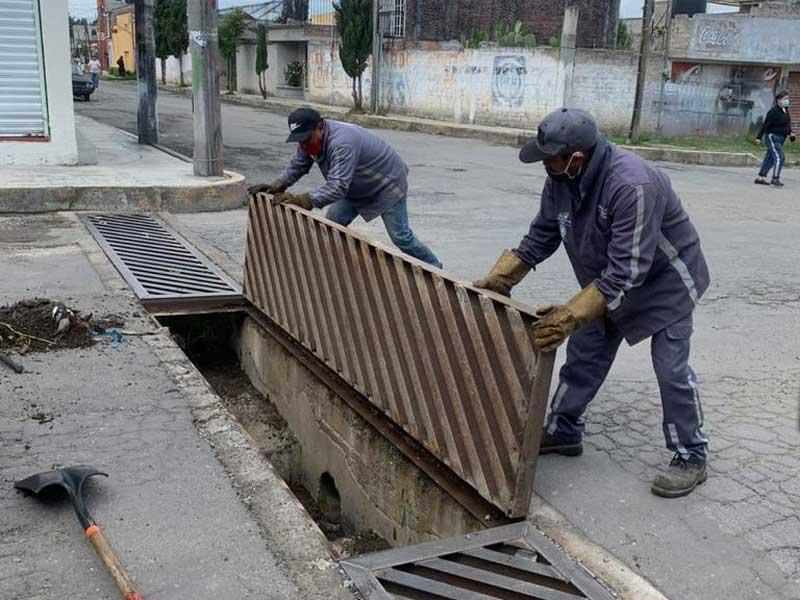 En óptimas condiciones el drenaje pluvial de Toluca