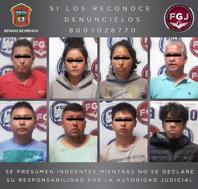 Agentes desmantelan punto de narcomenudeo y detiene a ocho personas