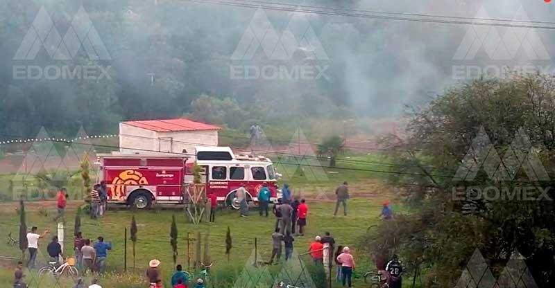 Explosión de pólvora en Zumpango deja tres mujeres lesionadas