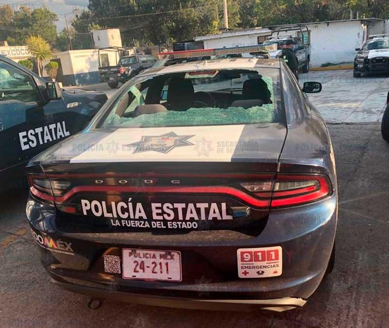 Infracción de tránsito termina en enfrentamiento, hay heridos y patrullas dañadas