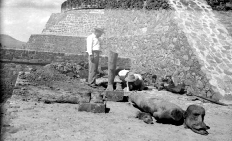 Ehécatl de Calixtlahuaca es pieza icónica de la cultura Mexica en el Valle de Toluca
