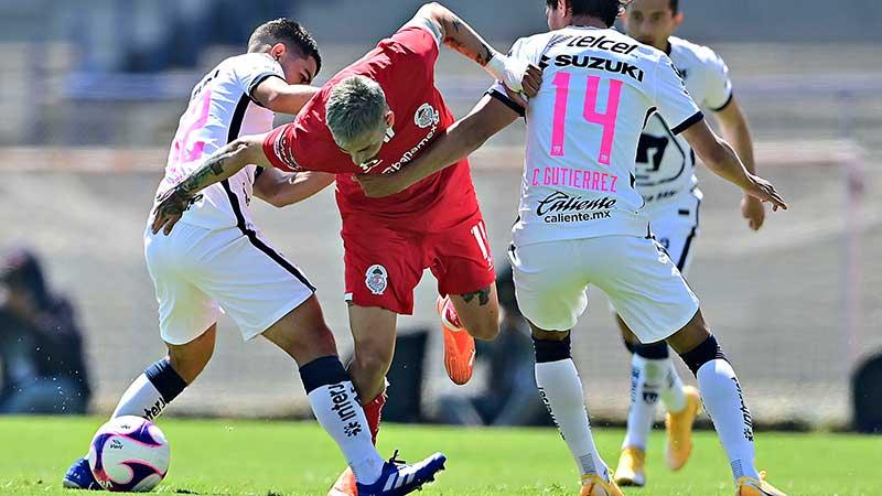 Toluca pierde ante Pumas por un desafortunado autogol