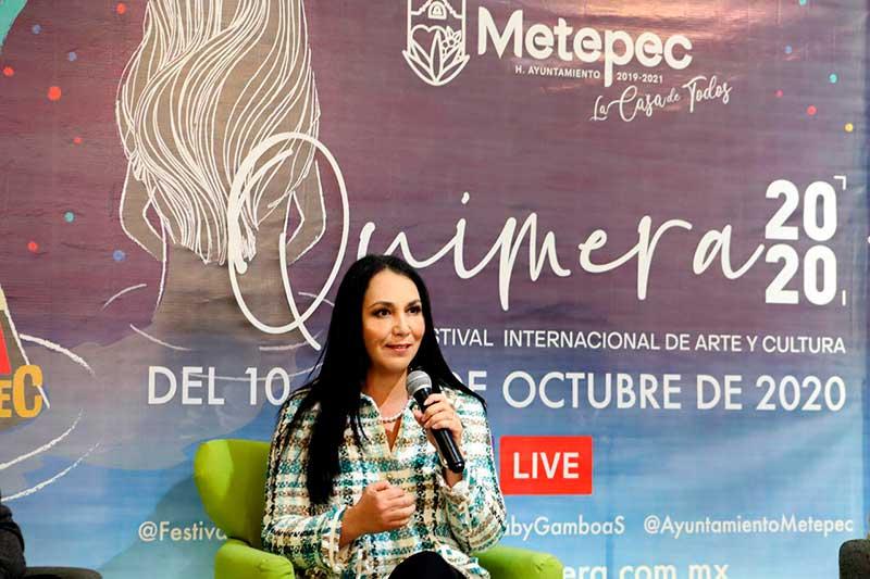 Gaby Gamboa presenta el libro «Quimera 30 años de cultura en Metepec»