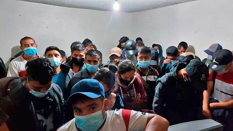 Ubican casa de seguridad en Ecatepec y rescatan a 44 migrantes centroamericanos