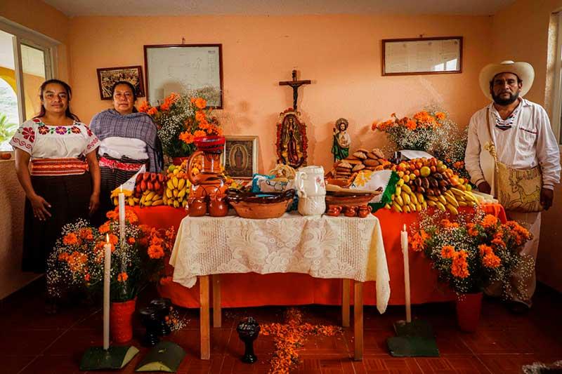 Pueblo Tlahuica de Ocuilan celebra su encuentro con la muerte
