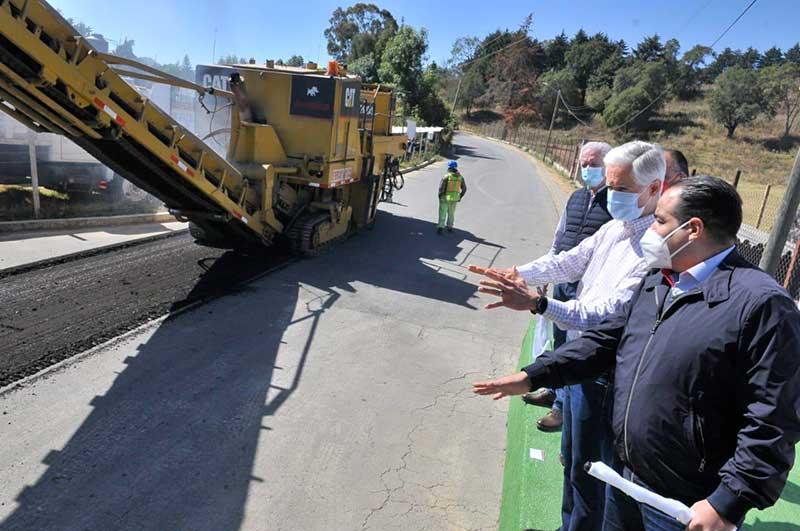 Gobernador Edomex da banderazo de inicio a rehabilitación de la red carretera del Sur