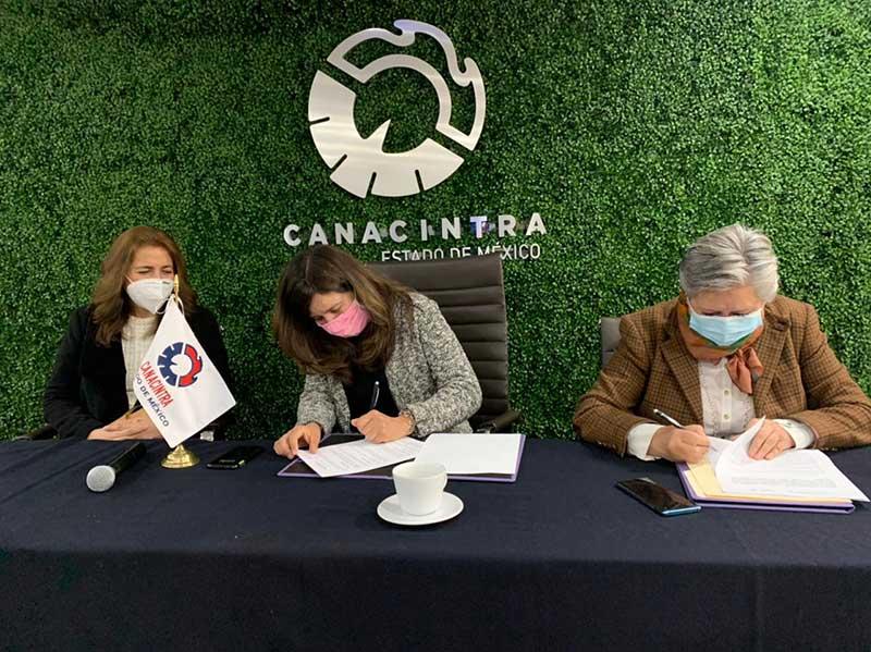 Firman Toluca y CANACINTRA convenio para fomentar la inclusión e igualdad de género en empresas