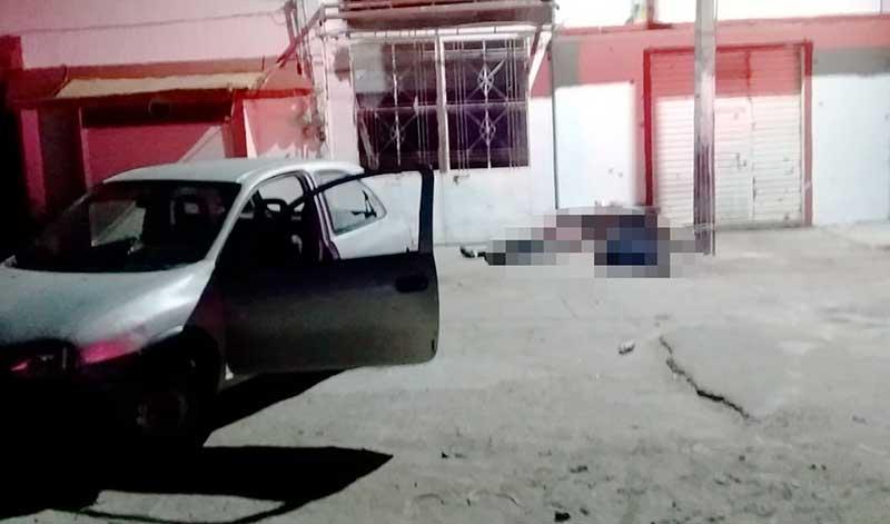 Disparan y asesinan a dos hombres en San Francisco Tlalcilalcalpan, una mujer sobrevive