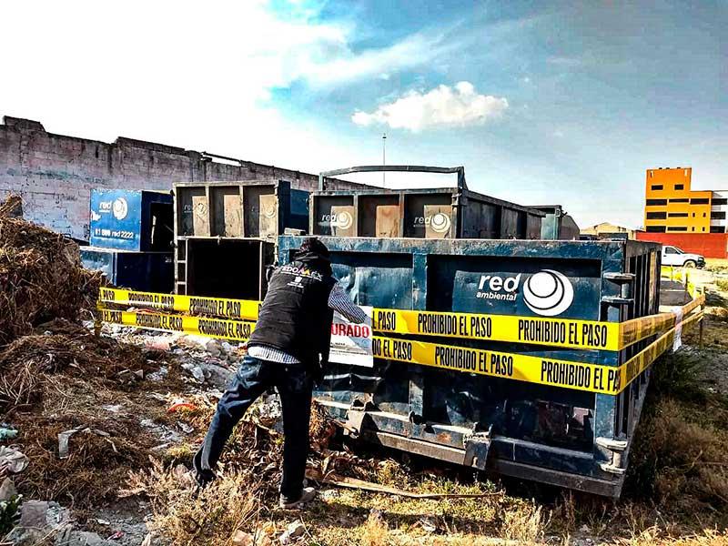 Propaem clausura predio con residuos peligrosos en Toluca