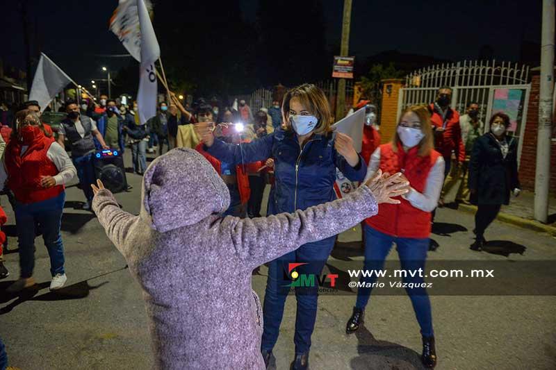 Inició campaña Ana Lilia Herrera en Infonavit San Francisco, Metepec