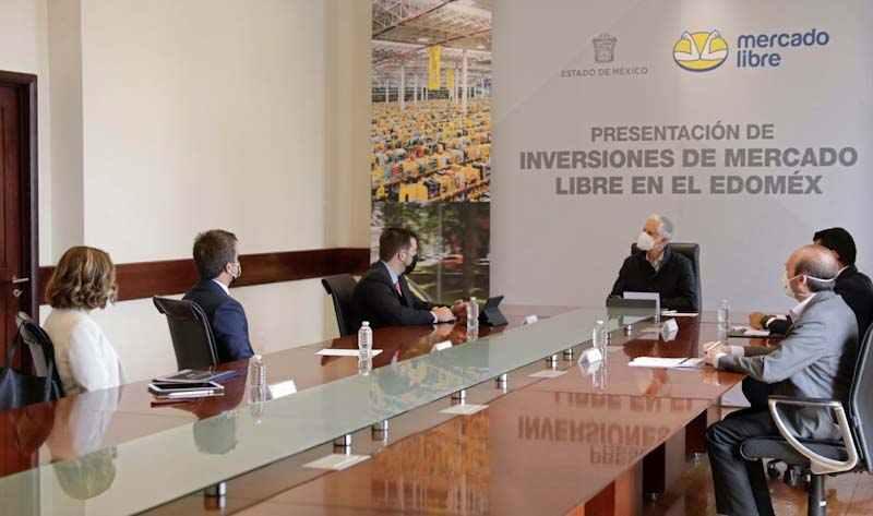 Se reúne gobernador del Edomex con empresarios de Mercado Libre