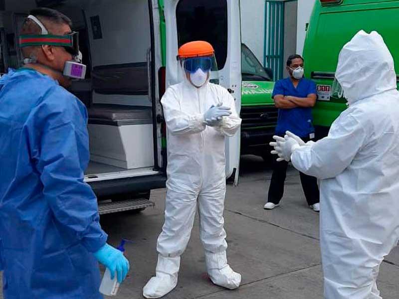Realiza SUEM más de mil 700 traslados de pacientes sospechosos y positivos a Covid-19