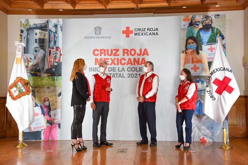 Inician colecta 2021 de la Cruz Roja Mexicana en el Estado de México