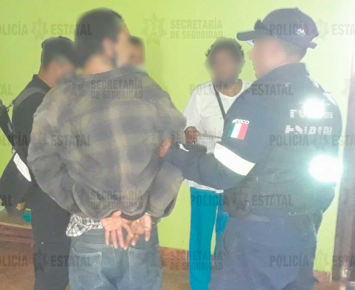 Mujer es rescatada de agresor en Ocuilan