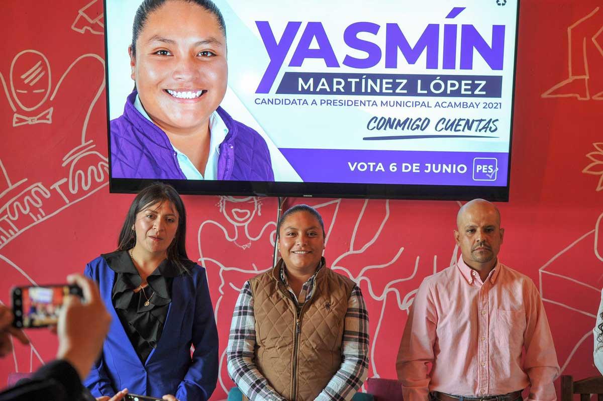 Candidata de Encuentro Solidario en Acambay denunció intimidación política en su contra