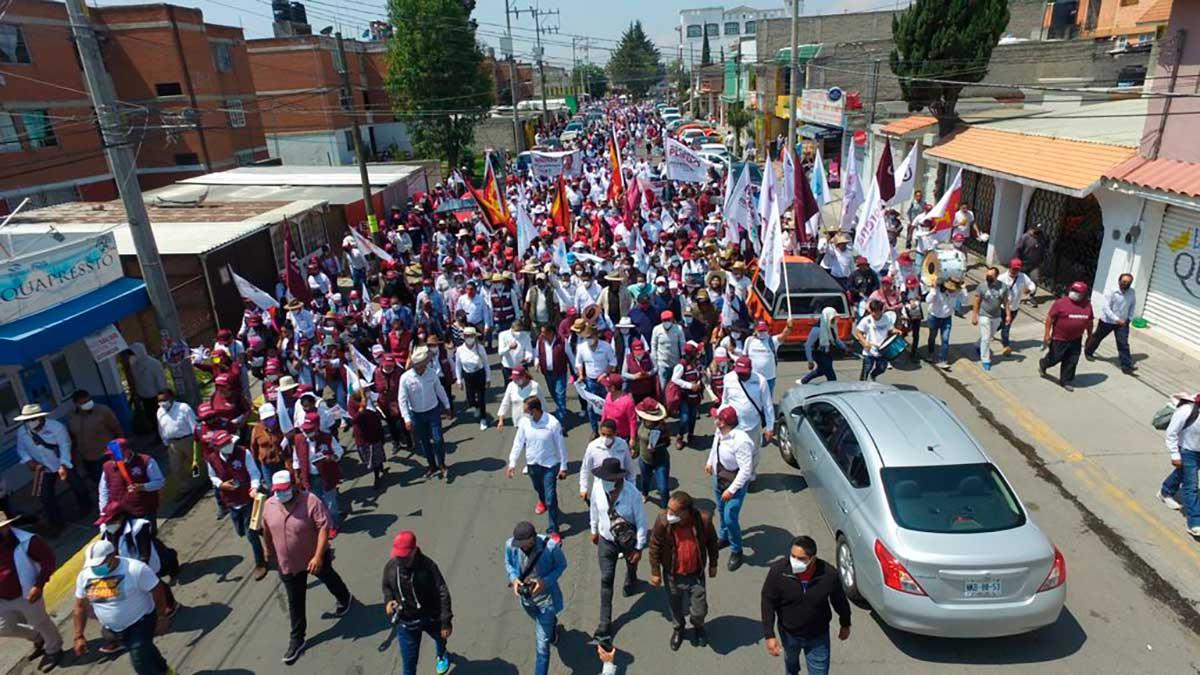 Campaña de Juan Rodolfo en Touca.