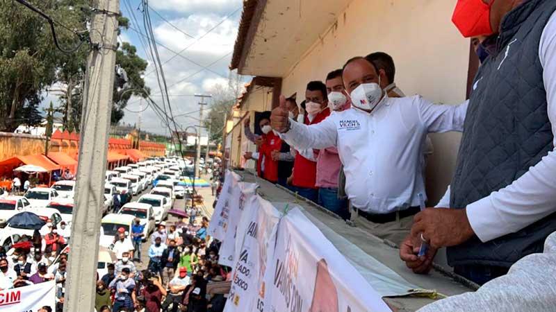 Taxistas de Zinacantepec se suman a la campaña de Manuel Vilchis
