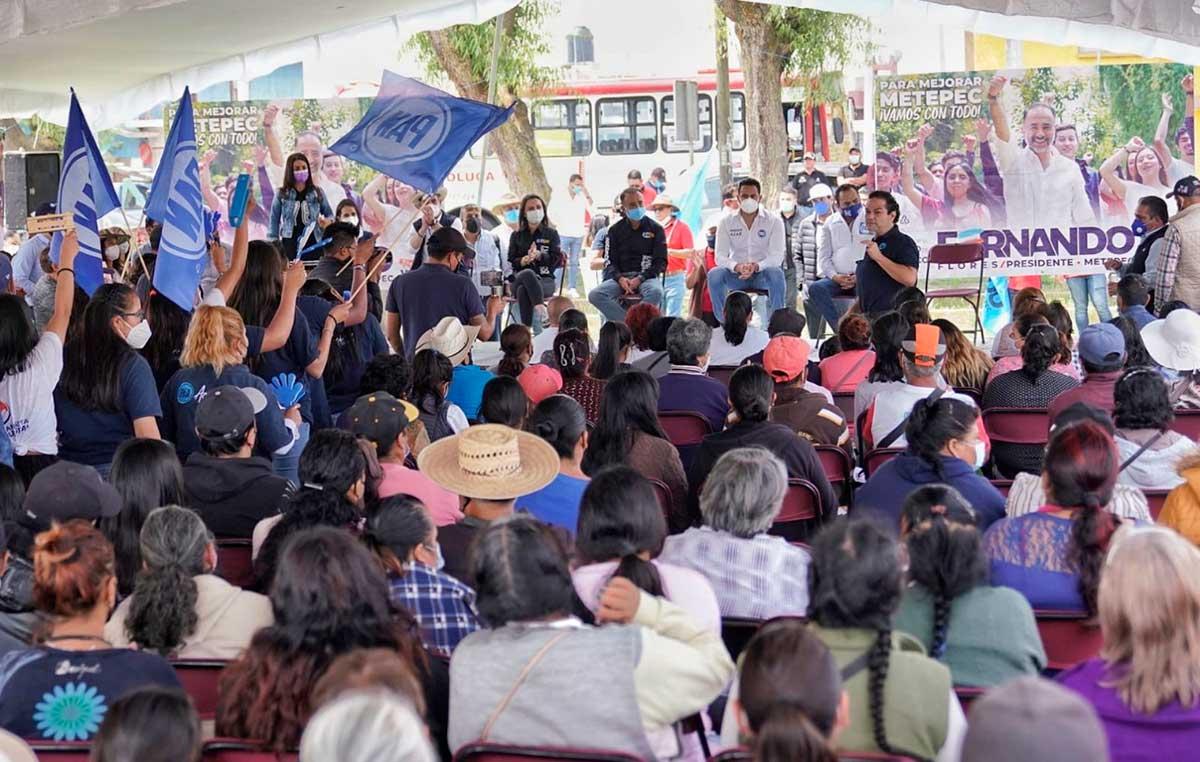 """Los candidatos de la coalición """"Va por el Estado de México"""" tienen todo el respaldo de Acción Nacional: Enrique Vargas"""