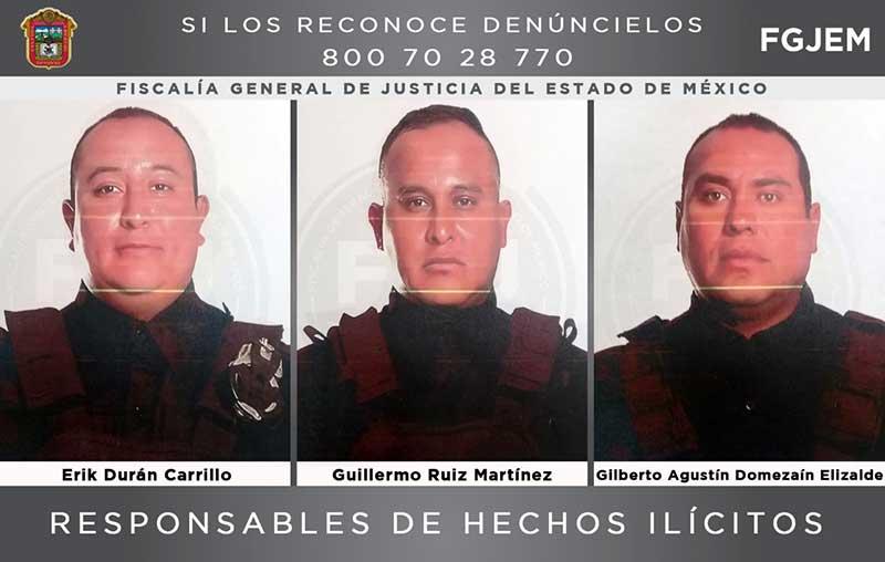 Sentencian a 56 años de prisión a tres policías municipales de Tlalnepantla acusados de secuestro exprés