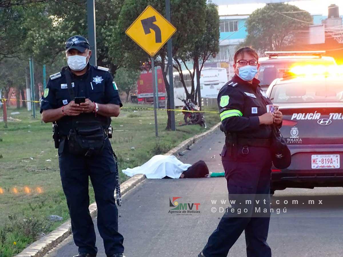 Muere otro motociclista en Toluca; ahora fue en Av. Alfredo del Mazo