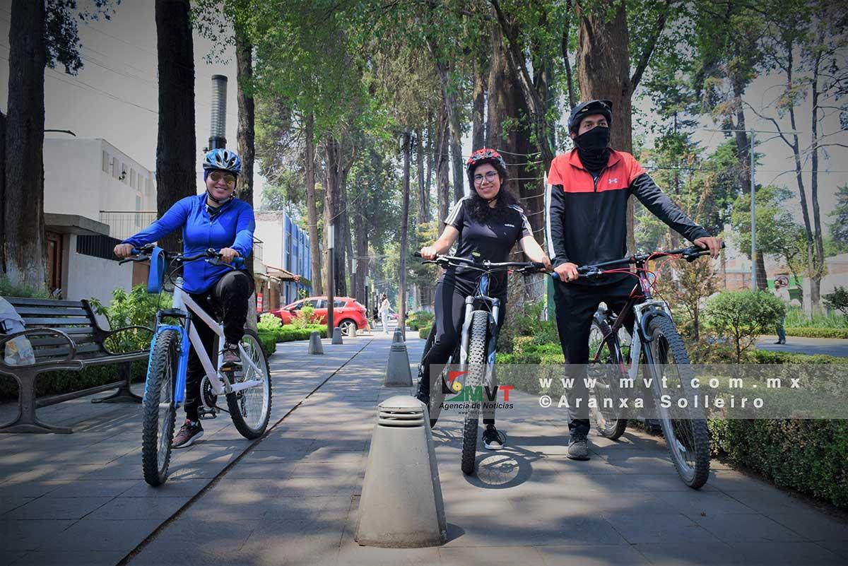 Adrenalina y alto riesgo, lo que viven los ciclistas de Toluca