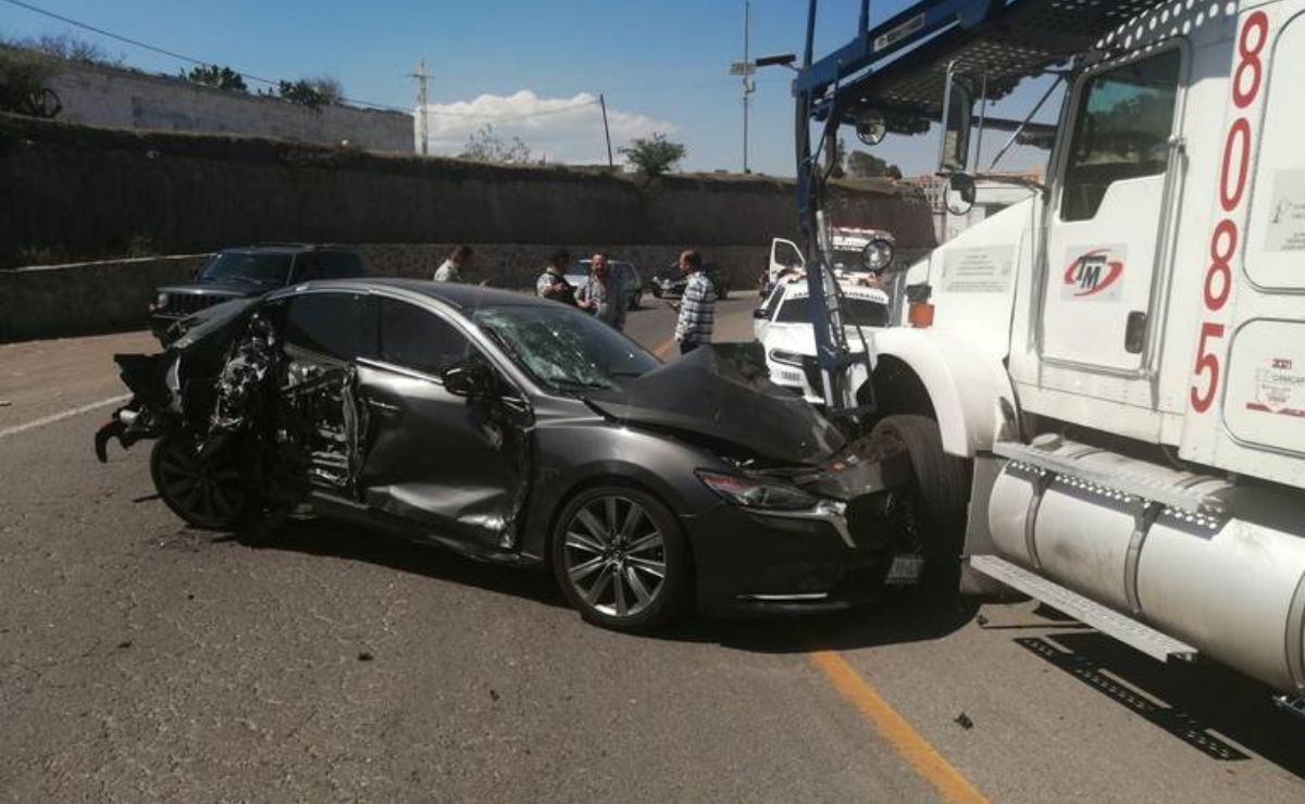 Se registra accidente en la carretera Toluca-Palmillas