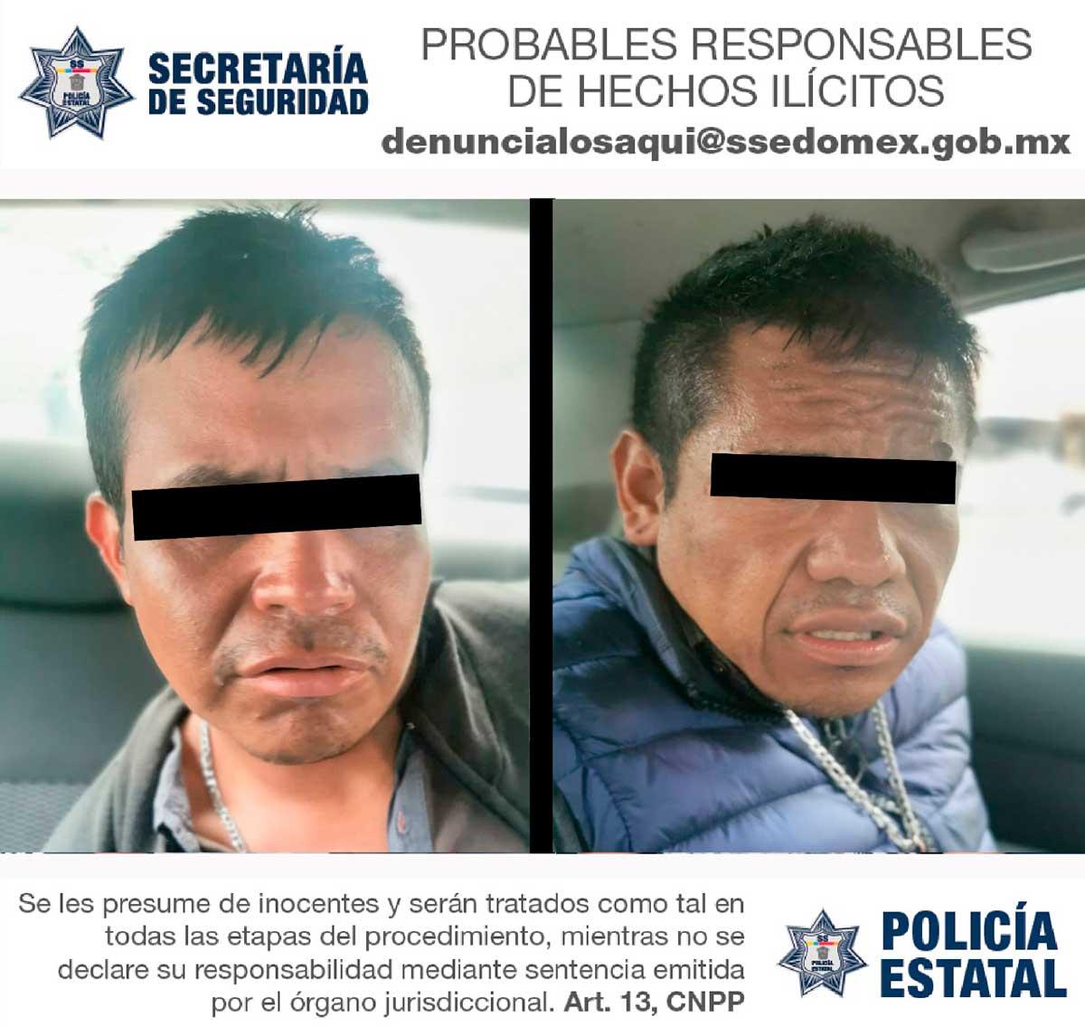 Detienen a dos sospechosos con arma y droga