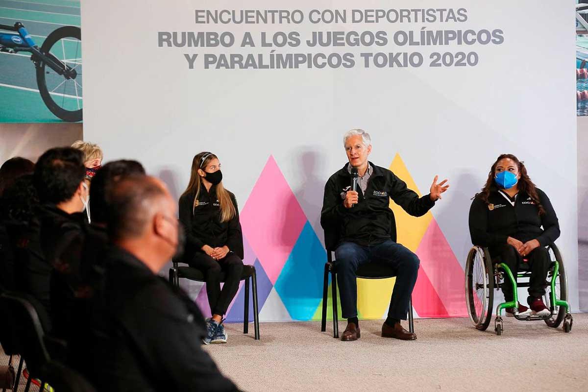 Gobernador se reúne con atletas mexiquenses que participarán en olimpiadas de Tokio