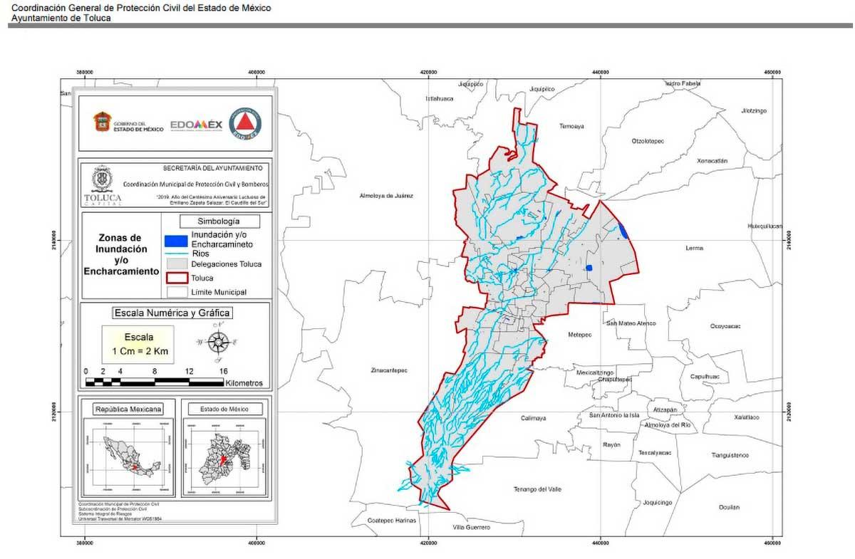 Publica Toluca el Atlas de Riesgo municipal