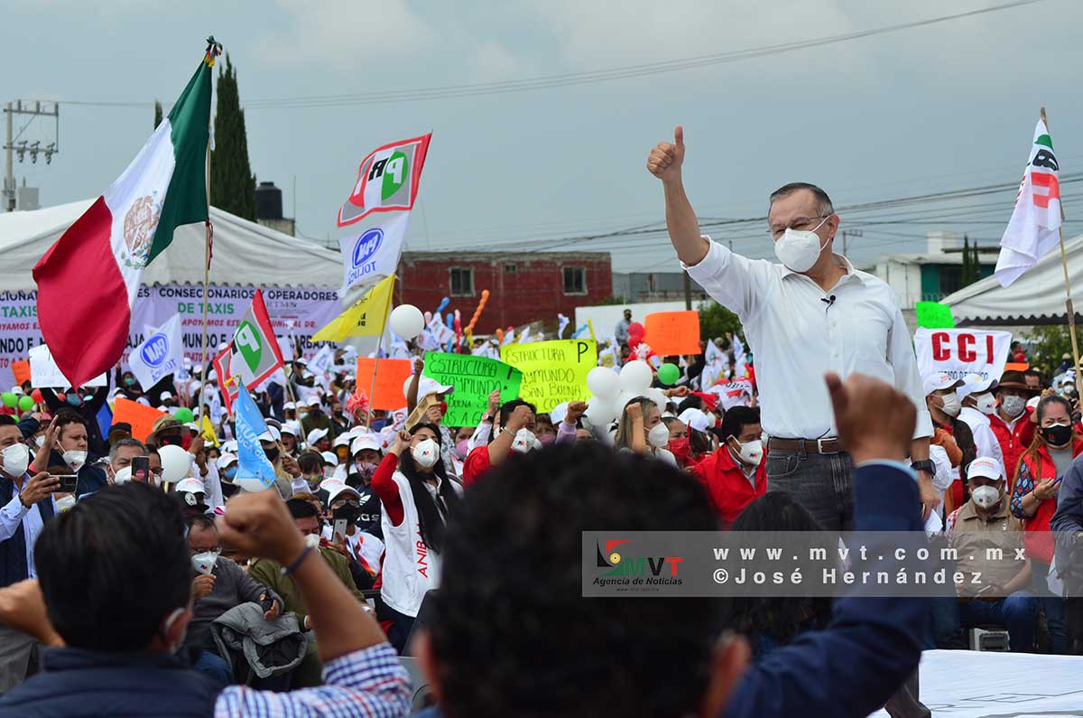 Raymundo Martínez cerró su campaña en San Lorenzo Tepaltitlán, Toluca