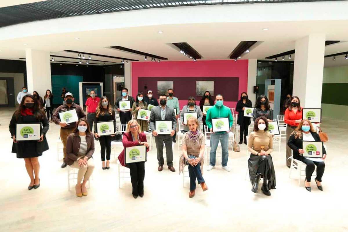 Operadores Turísticos de Toluca reciben sello Safe Travels