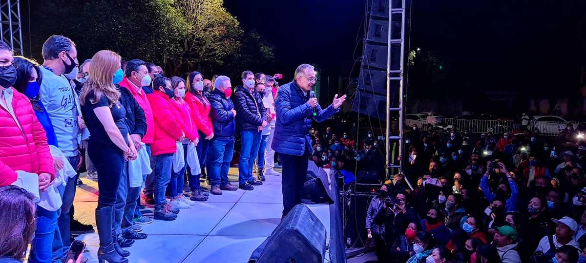 Raymundo Martínez y candidatos de la coalición PAN-PRI-PRD aventajan a Morena en Toluca
