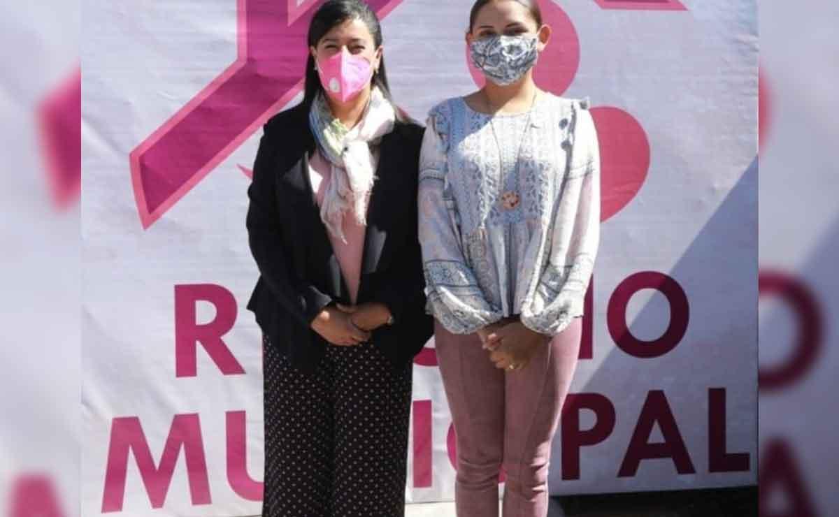 La presidenta municipal inaugurando el refugio temporal para mujeres víctimas de violencia de género.