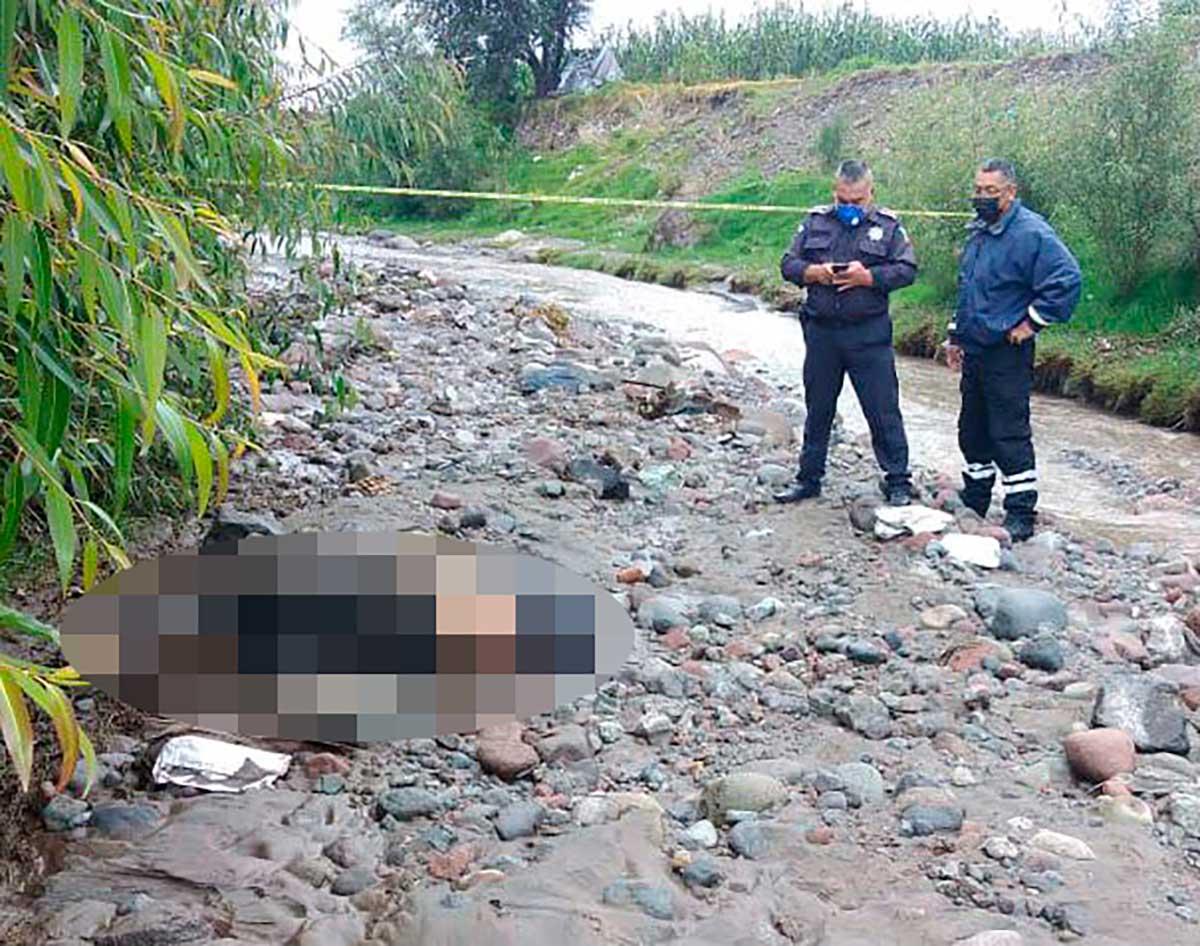 Localizan a joven muerto que arrastró el río Tejalpa en Zinacantepec