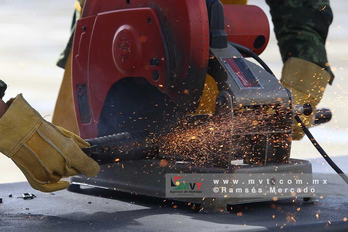 Militares destruyen armas decomisadas en el Edomex