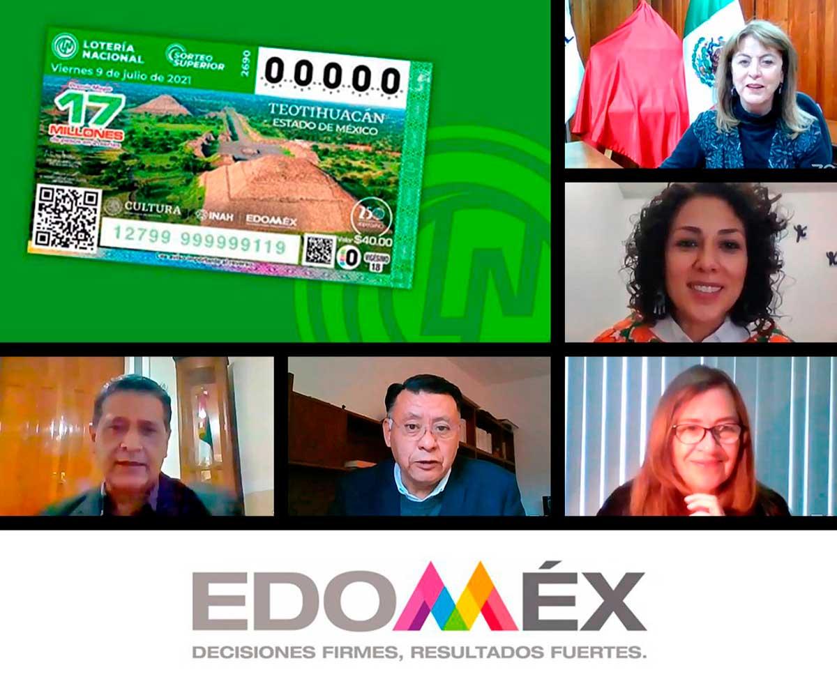Billete lotería teotihuacán
