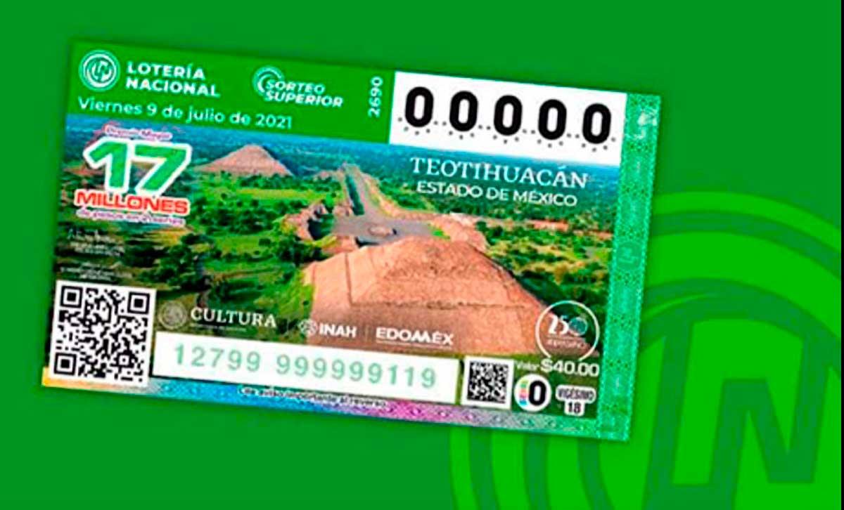 Develan billete de lotería conmemorativo de la zona arqueológica de Teotihuacán