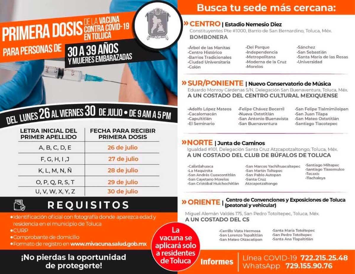 Jornada de Vacunación en Toluca