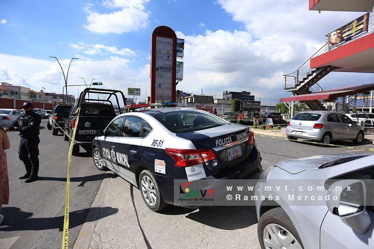 Disparan contra un hombre en plaza Providencia Metepec