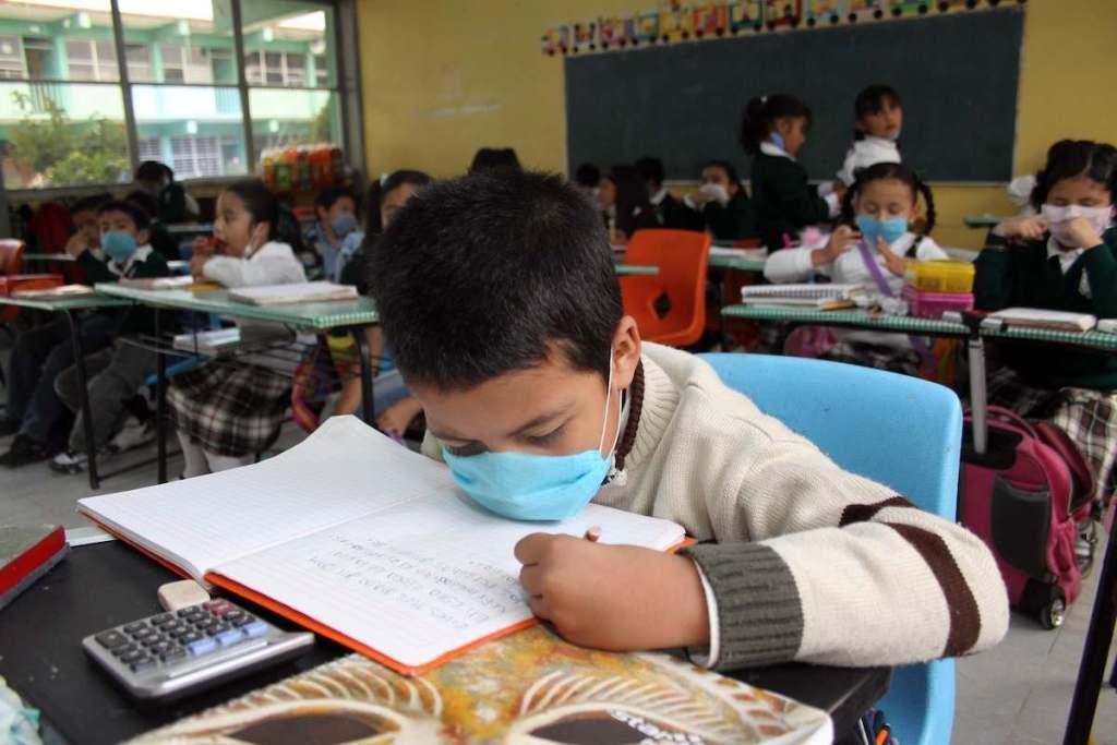 Alumno estudiando en escuela mexiquense en un nivel de educación básica