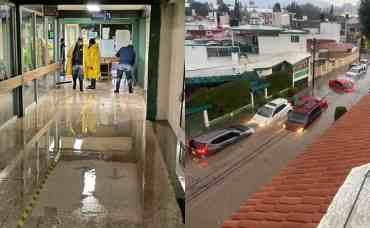 Se registran fuertes lluvias en municipios del Edomex