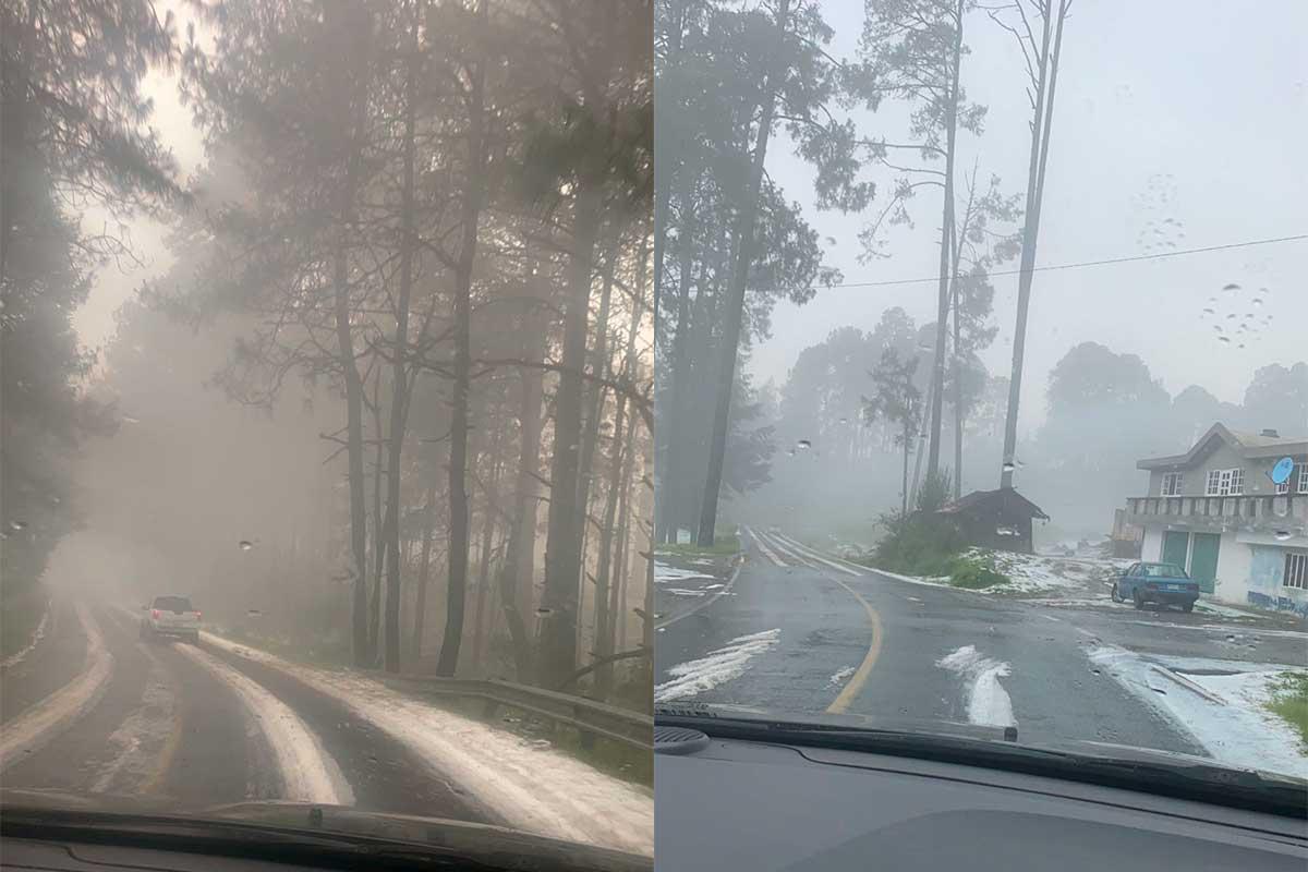 #Video Se registra granizada en las faldas del nevado de Toluca