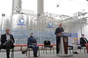 Gobernador del EdoMéx inauguró planta de alpura en Cuautitlán Izcalli