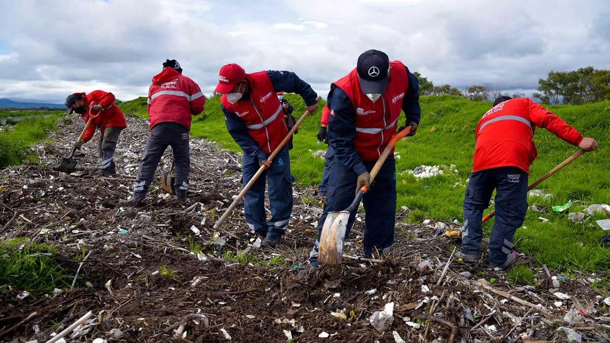 CAEM colabora en Jornada de Desazolve en el Río Lerma
