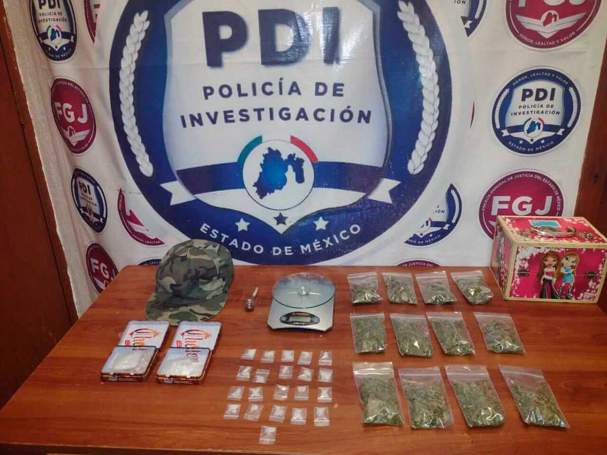 Desmantela FGJEM un punto de venta de droga en Tenancingo