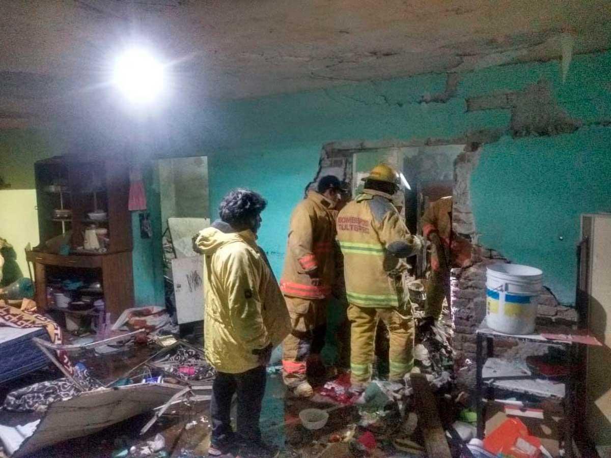 Explosión de pirotecnia deja dos personas lesionadas en Tultepec