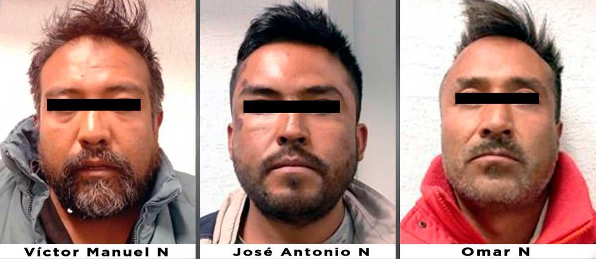 Agentes de la fiscalía aprehenden a tres hermanos investigados por un homicidio en Zinacantepec