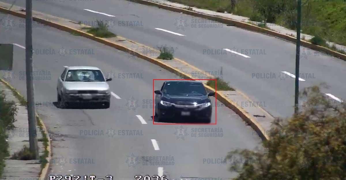 Policías de la Secretaría de Seguridad aseguran vehículo probablemente utilizado para el robo de automotores